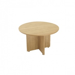 Avior Ash 1200mm Round Meeting Table Ash KF838268