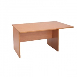 Jemini Intro 1200mm Boardroom Table End Section Beech KF838569