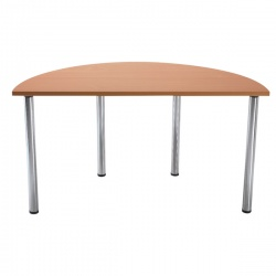Jemini Semi-Circular Meeting Room Table Standard Leg Beech KF838575