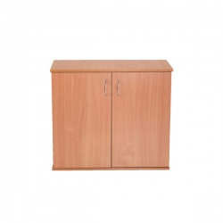 Jemini Intro Desk High Cupboard 800mm Warm Maple KF838614