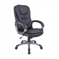 Arista Murcia Leather Look Executive Black Chair KF97092