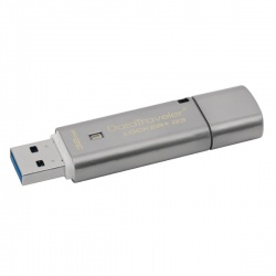 Kingston Silver DataTraveler Locker+ G3 USB 3.0 Encrypted Flash Drive 32GB DTLPG3/32GB