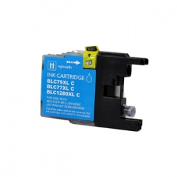 Brother LC1280XL-C (LC1280XL) Cyan Inkjet Cartridge - Compatible