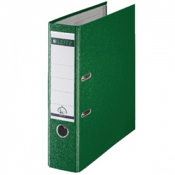 Leitz 180° Lever Arch File Polypropylene A4 80mm Green (Pack of 10) 10101055