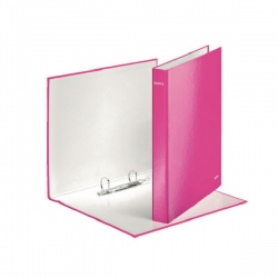 Leitz WOW A4+ 2 D-Ring Binder 25mm Pink (Pack of 10) 42410023