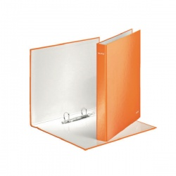 Leitz WOW A4+ 2 D-Ring Binder 25mm Orange (Pack of 10) 42410044