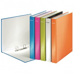 Leitz WOW A4 Plus 2 D-Ring Binder 25mm Assorted (Pack of 10) 42410099