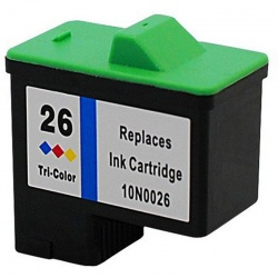 Remanufactured Lexmark 10N0026E (26) Colour Ink Cartridge