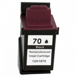 Remanufactured Lexmark 12A1970 (70) Black Ink Cartridge