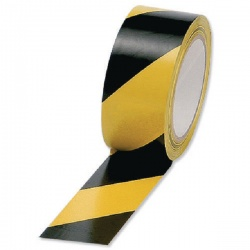 Vinyl Tape Hazard Yellow/Black 50mm x 33m (Pack of 6) PVC-50-33-HAZYB