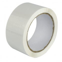 White Polypropylene Tape 50mm x 66m (Pack of 6) APPW-500066-LN