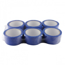 Blue Polypropylene Tape 50mm x 66m (Pack of 6) APPBL480066-LN
