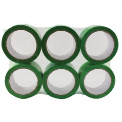 Green Polypropylene Tape 50mm x 66m (Pack of 6) APPG-500066-LN