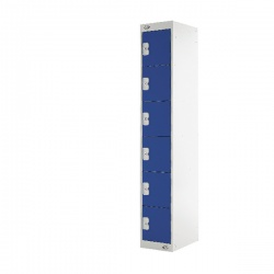 Six Compartment Locker Blue Door 450mm Deep MC00067