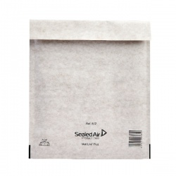 Mail Lite® Plus Bubble Lined Postal Bag Size E/2 220 x 260mm Oyster White (Pack of 100) MLPE/2