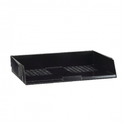 Avery Wide Entry Letter Tray Black W44BLK
