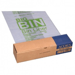 Acorn Twin Bin Heavy Duty Recycling Liner (Pack of 50) 504293