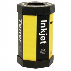 Acorn Cartridge Black/Yellow Recycling Bin 60 Litre (Pack of 5) 059783