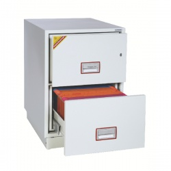 Phoenix White 2 Drawer 90 Minute Fire Rated Filing Cabinet FS2252K