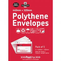 Polythene 440x320 Envelopes (Pack of 20)