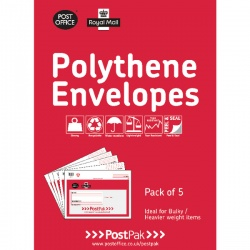 Polythene Envelopes Assorted Sizes .
