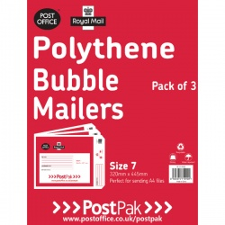 Polythene Size 7 Bubble Mailer (Pack of 13)