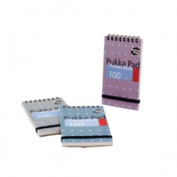 Pukka Pocket Notebook A7 Wirebound Feint Ruled 100 Pages (Pack of 6) 6254-MET