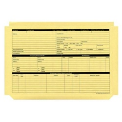 Personnel Wallets Pre-printed (Yellow) Pack of 50