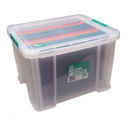 StoreStack 36 Litre Box Clear W480 x D380 x H320mm RB90124