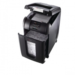 Rexel Auto+ 300X Cross Cut Shredder Black 2103250 Claim Cashback