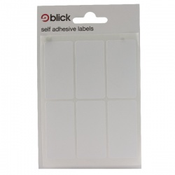 Blick White 42 Labels in Bags 25x50mm (Pack of 840) RS001959