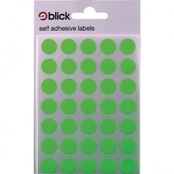 Blick Green Fluorescent Labels in Bags Round 13mm (Pack of 2800) RS004158