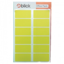 Blick Yellow Labels in Office Packs (Pack of 320) RS020158