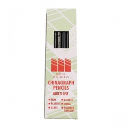 Royal Sovereign Black Chinagraph Marking Pencil (Pack of 12) RS525653
