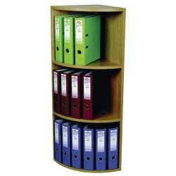 Rotadex Corner Unit 3-Tier Light Oak CU18 CU20