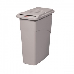 Rubbermaid Slim Jim Grey Confidential Waste Container 9W15-00-GRY
