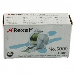 Rexel No. 5000 Staples Cartridge for Stella 30 (Pack of 5000) 06308