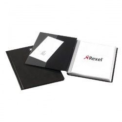 Rexel Nyrex Slimview Display Book A4 Black 50 Pocket 10048BK