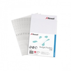 Rexel Budget Pocket A4 Clear 11000 (Pack of 100)