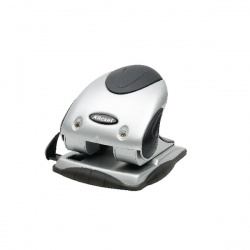 Rexel Precision P240 2 Hole Punch Black and Silver 40 Sheet 2100748