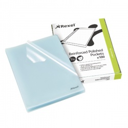 Rexel Cut Flush Copyking Folder Clear Polypropylene A4 CKFA4 (Pack of 100) 12215