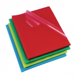Rexel Cut Flush Copyking Folder Assorted Polypropylene A4 CKFA4 (Pack of 100) 12216AS