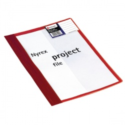 Rexel Nyrex-80 Project A4 File Red (Pack of 5) 80PFA4 13045RD