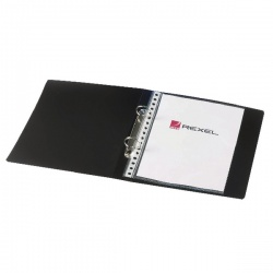 Rexel Budget 2 Ring Binder A5 25mm Polypropylene Black (Pack of 10) 13428BK