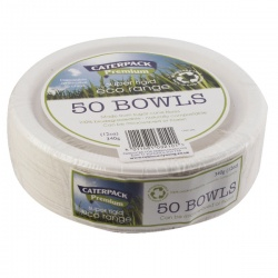 Super Rigid 7 Inch 12oz Biodegradable Bowls (Pack of 50) 3866