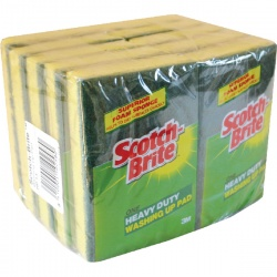 3M Scotch-Brite Heavy Duty Washing Up Scouring Sponge (Pack of 10) UU003643432