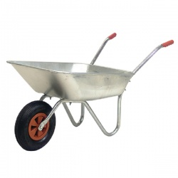 Medium Duty Wheelbarrow Silver 379991