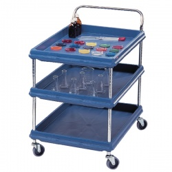 Deep Ledge Trolley 3 Tier Blue W984xD689mm 310788