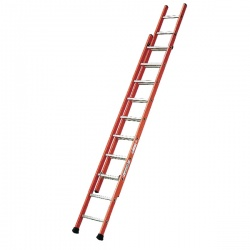 Glass Fibre Ladder 2 Sections 2x14 Treads 316754