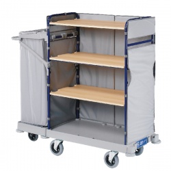 Grey Maid Service Trolley with Bag 1170x530x1280mm 321830